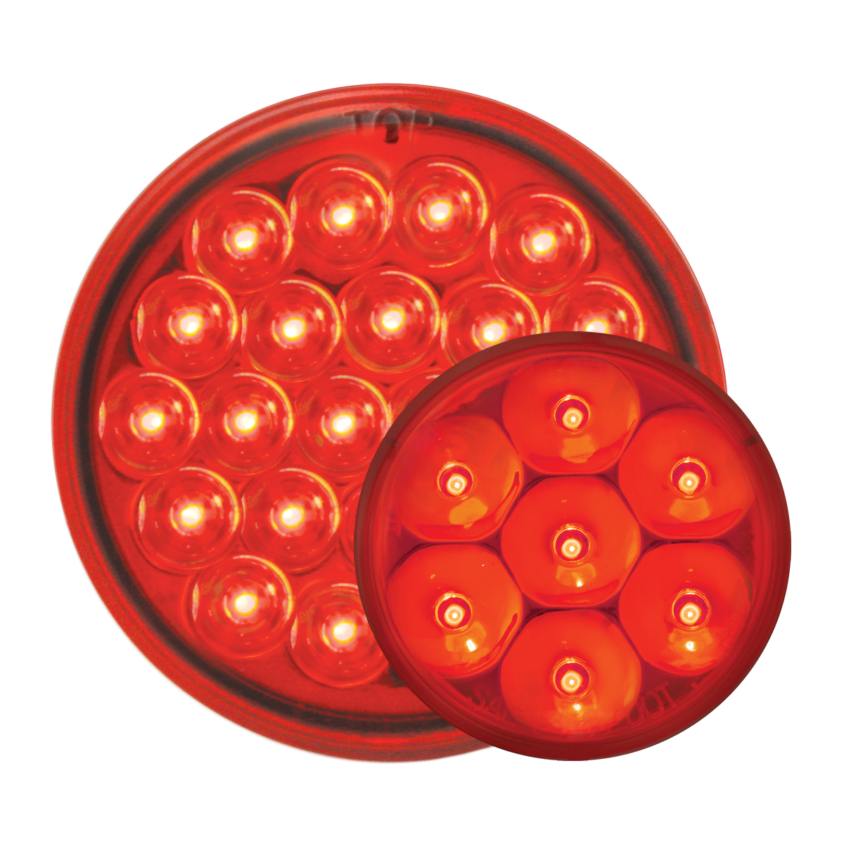 #78273/#76582 Pearl LED Flat - Red/Red