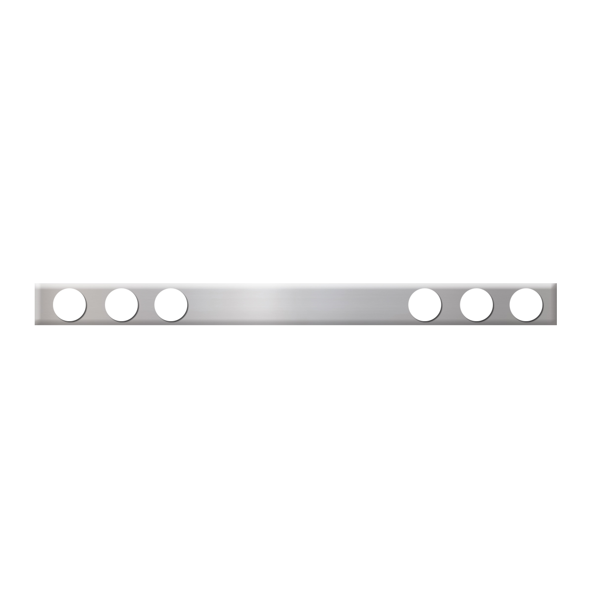 #80121 Chrome Plated Steel One Piece Rear Light Bar Only