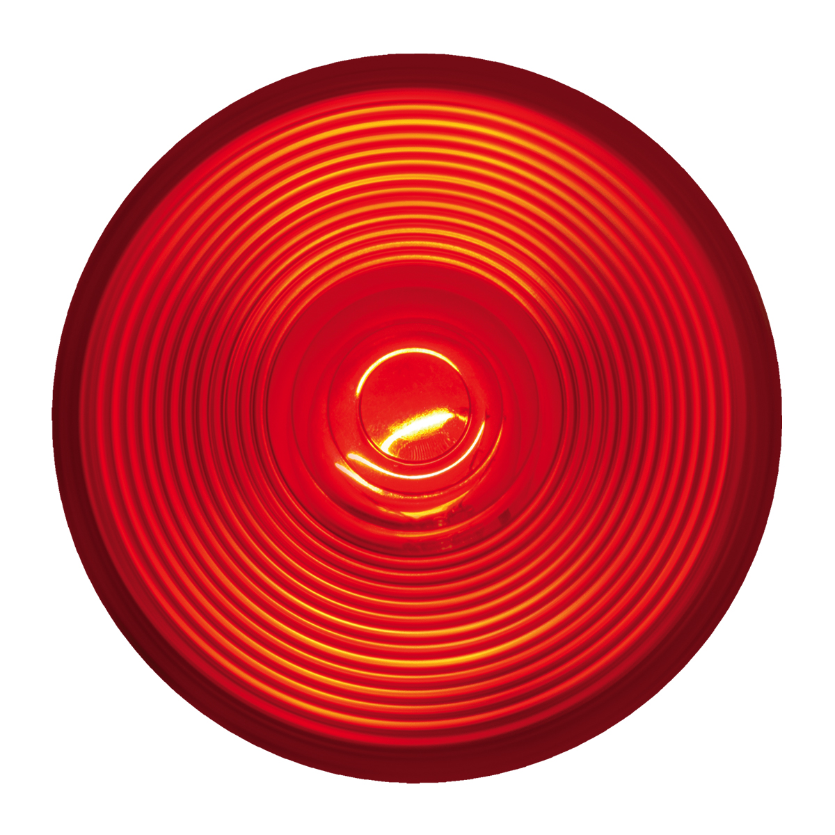 "4"" Round Incandescent Flat Red/Red Light"