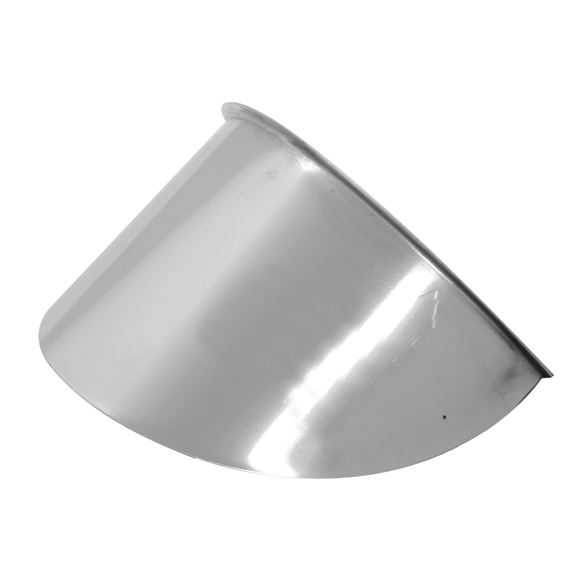 Stainless Steel Small Bullet Glass Marker Light Visor – Up
