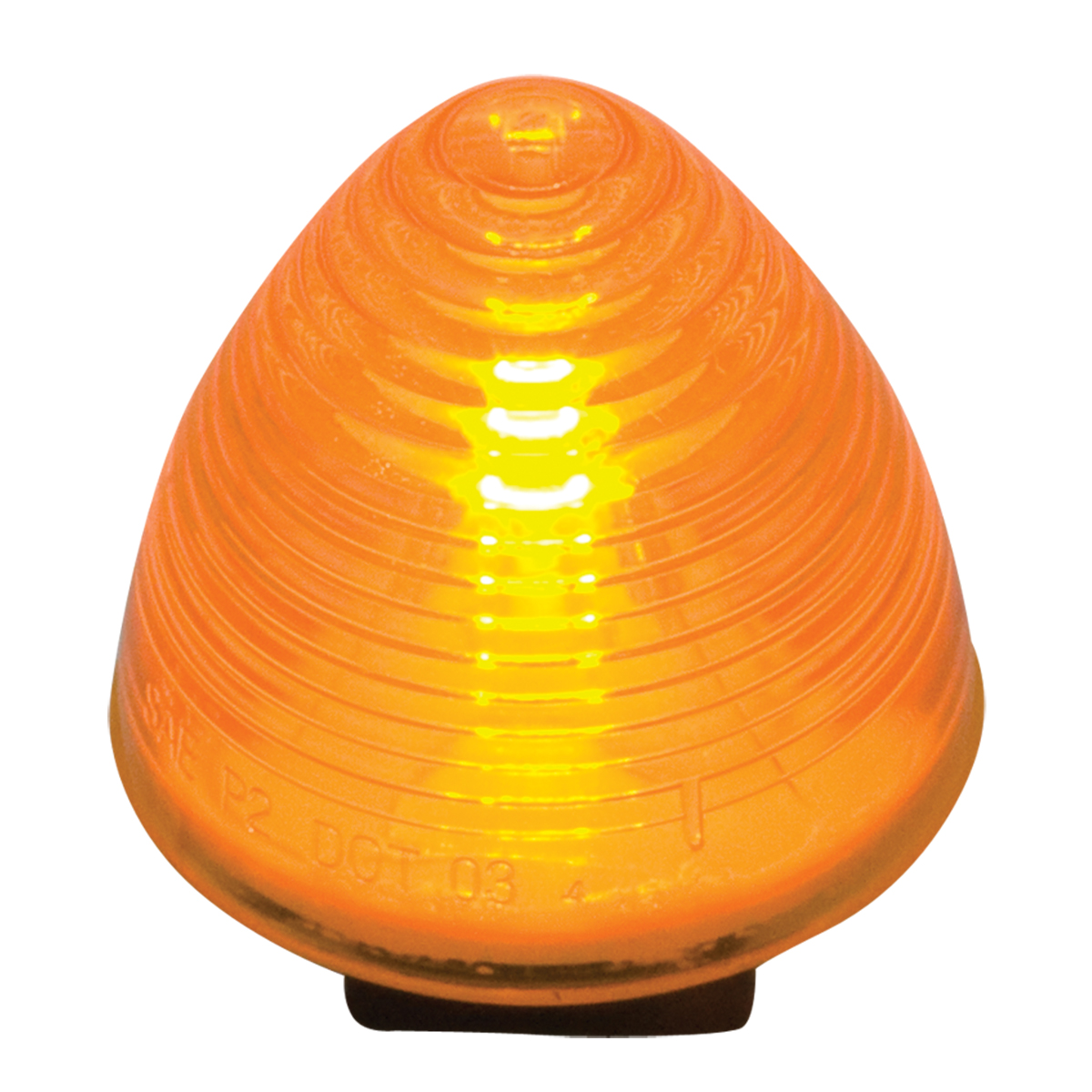 """#80942 2"""" Sealed Incandescent Beehive Amber/Amber Light"""