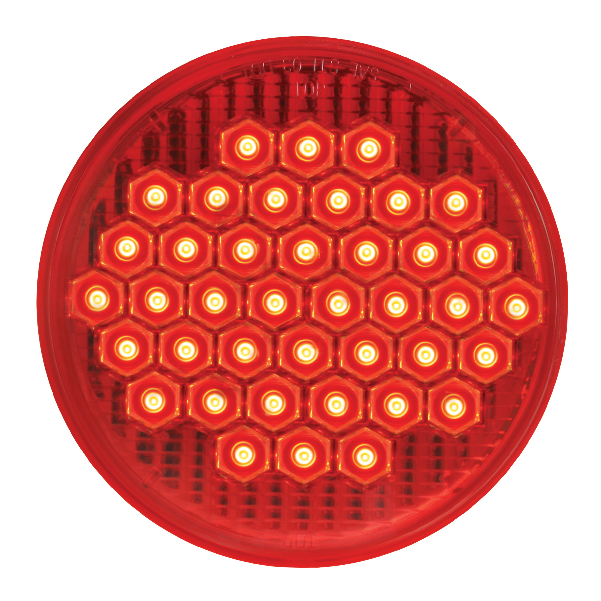 "#87700 4"" Round High Count LED Flat - Red/Red"