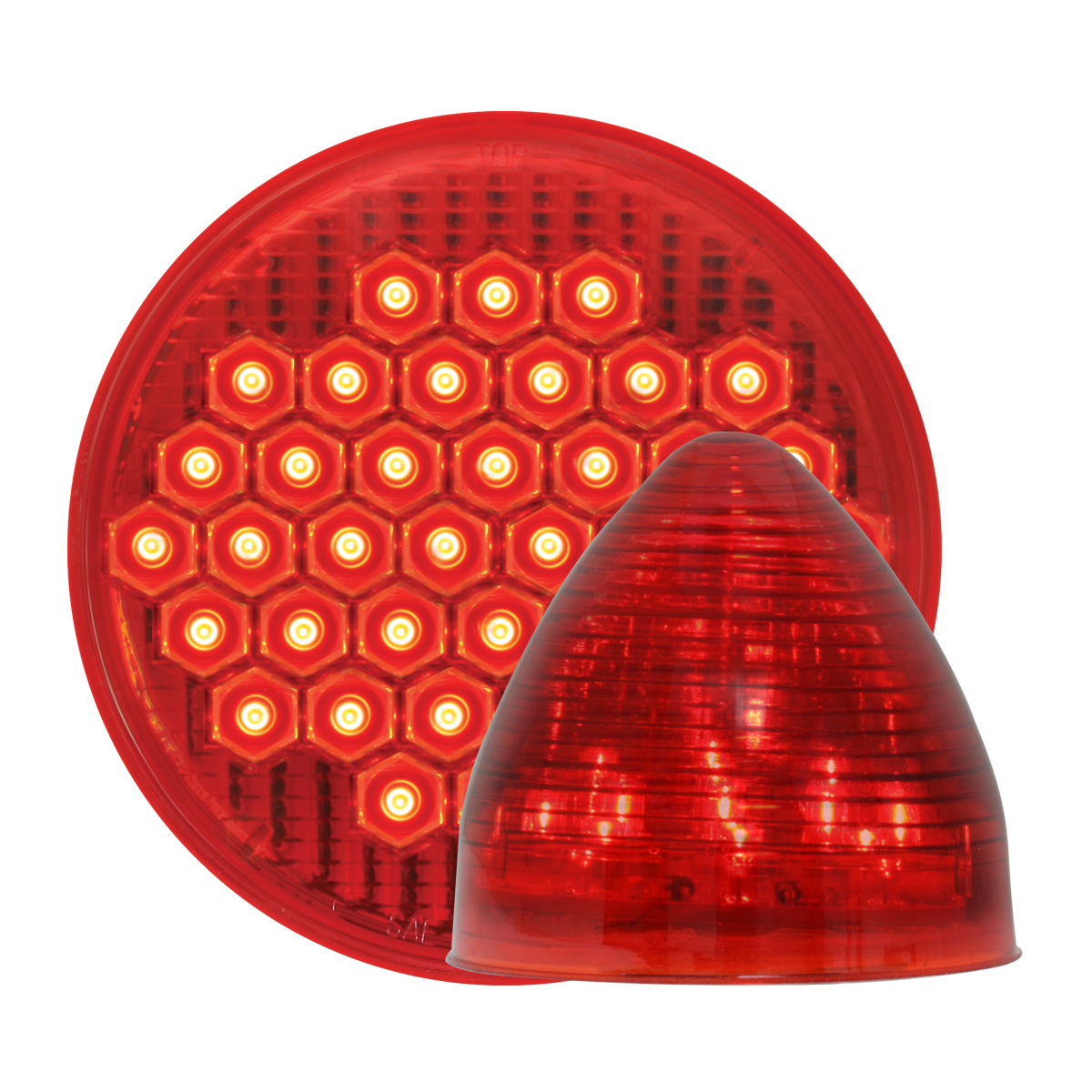 #87700/#79301 High Count LED Red/Red - Beehive