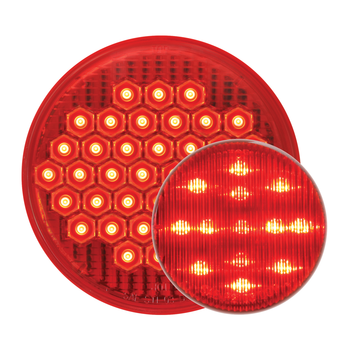 #87700/#79311 High Count LED Red/Red - Flat