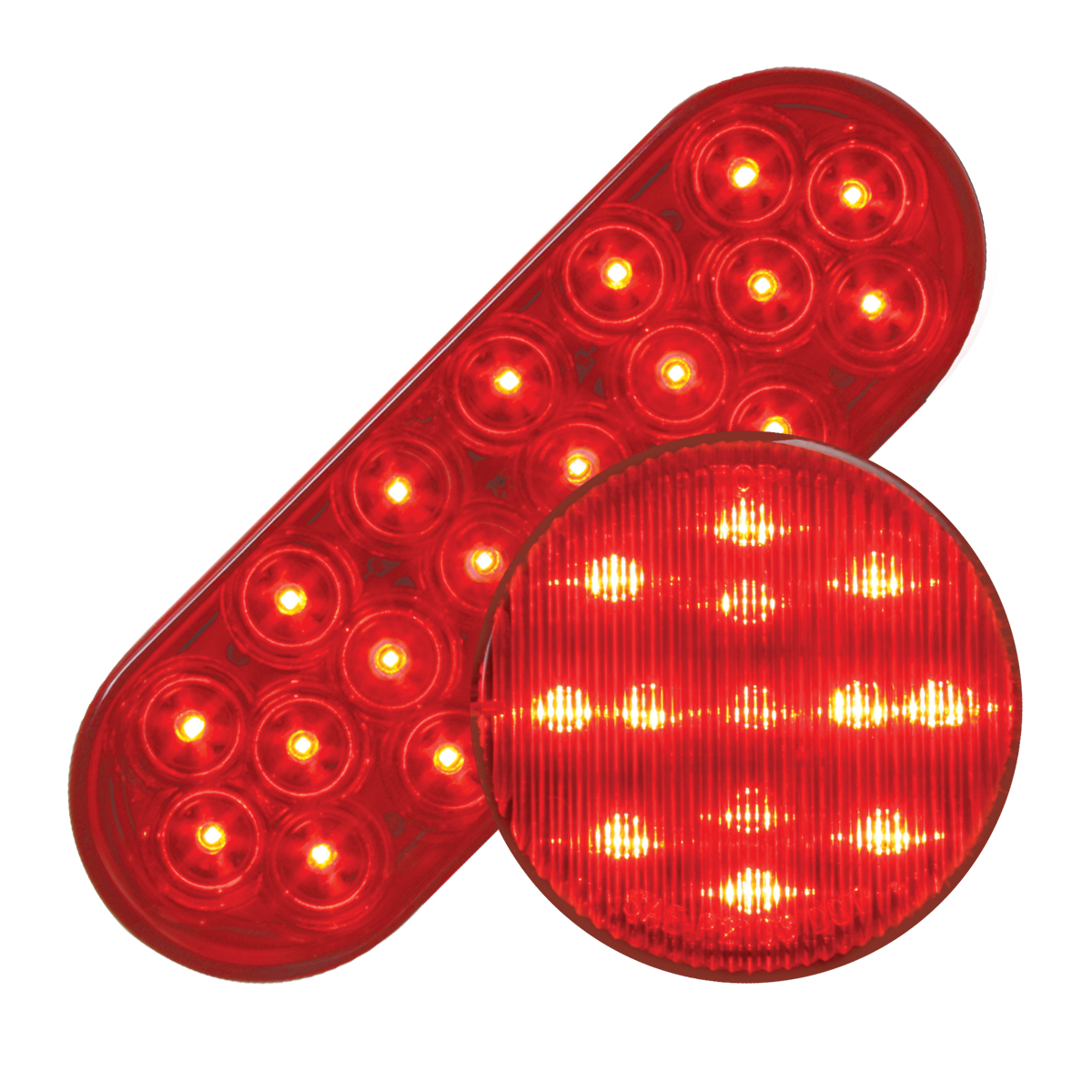 #87721/#79311 Fleet LED Red/Red - Flat