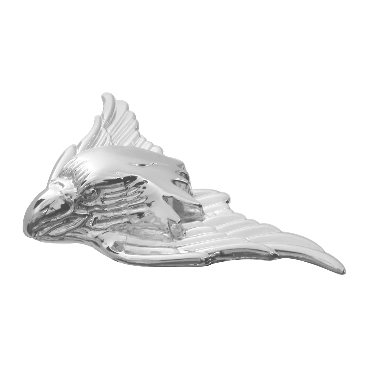 "#94050 Small 4"" x 2 ⅜"" (W) x ¾"" (H) War Eagle Emblem Headlight Cover"