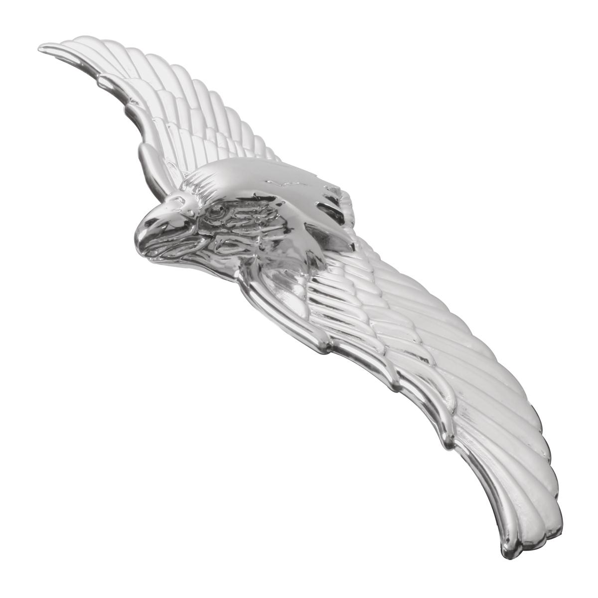 "#94052 Large 7 ½"" (L) x 2"" (W) x ¾"" (H) War Eagle Emblem Headlight Cover"