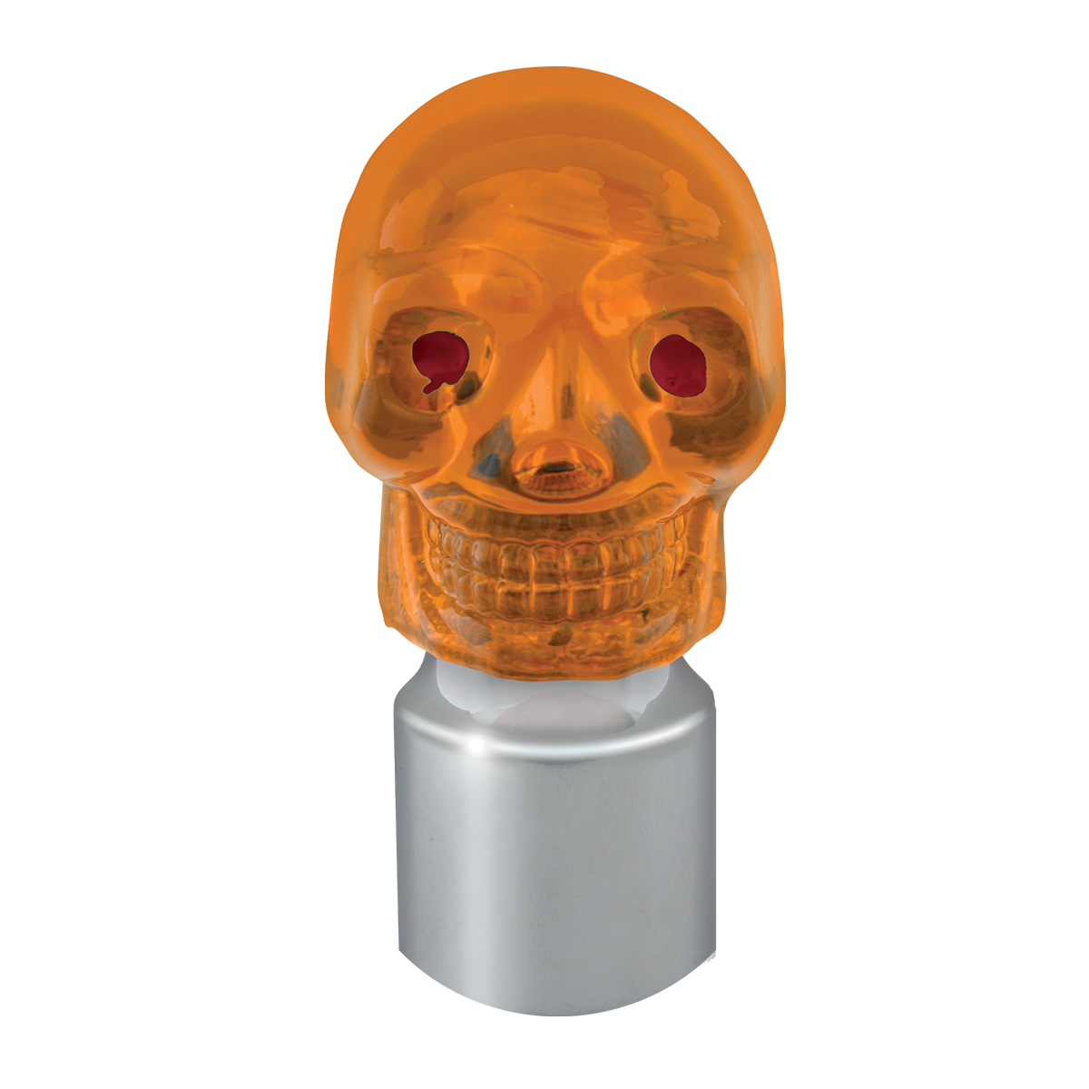 #94500 Stainless Steel Amber Skull Lens with Cap