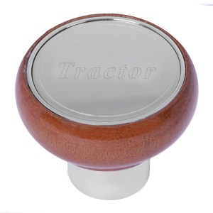 Screw-In Air Valve Control Wood Knobs with Stainless Steel Script Plate