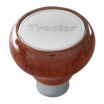 Screw-In Air Valve Control Rosewood Knobs with Stainless Steel Script Plate
