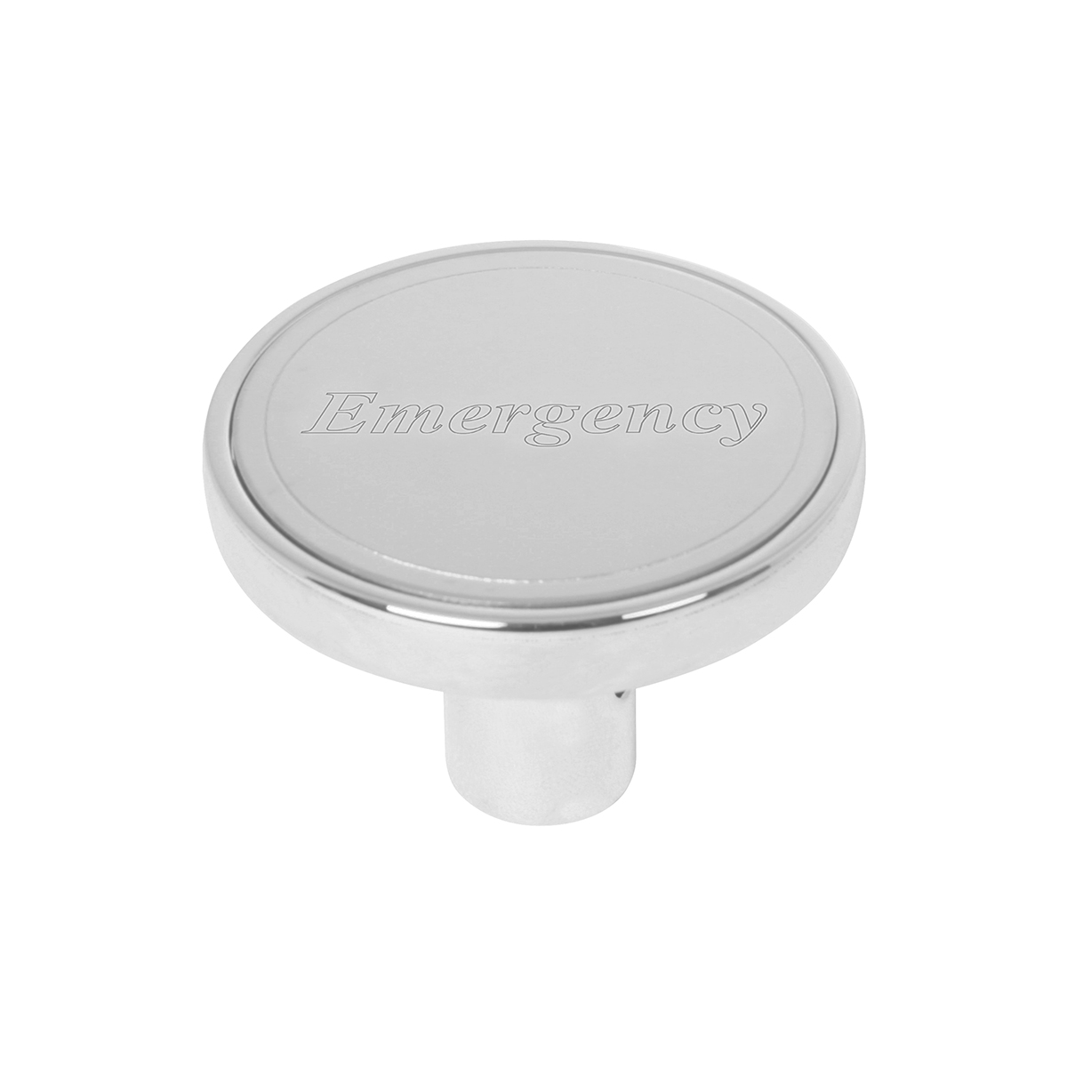 "#96247 Air Valve Control Knob w/Stainless Steel Plate (1 ¹⁵∕₁₆"" dia. x 1 ⁵∕₁₆"" (H) x ⅜"" I.D. ) - Emergency"