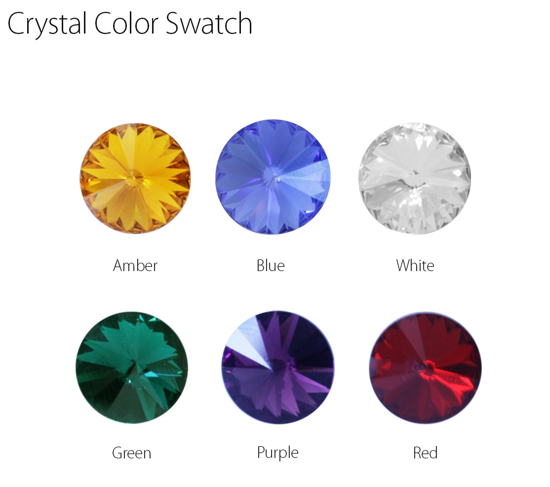 Crystal Color Swatch for Long Trailer Brake Handle w/Crystal on Top