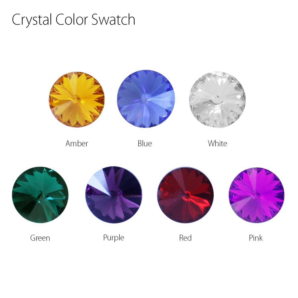 Tire Valve Stem Cover Crystal Color Swatch