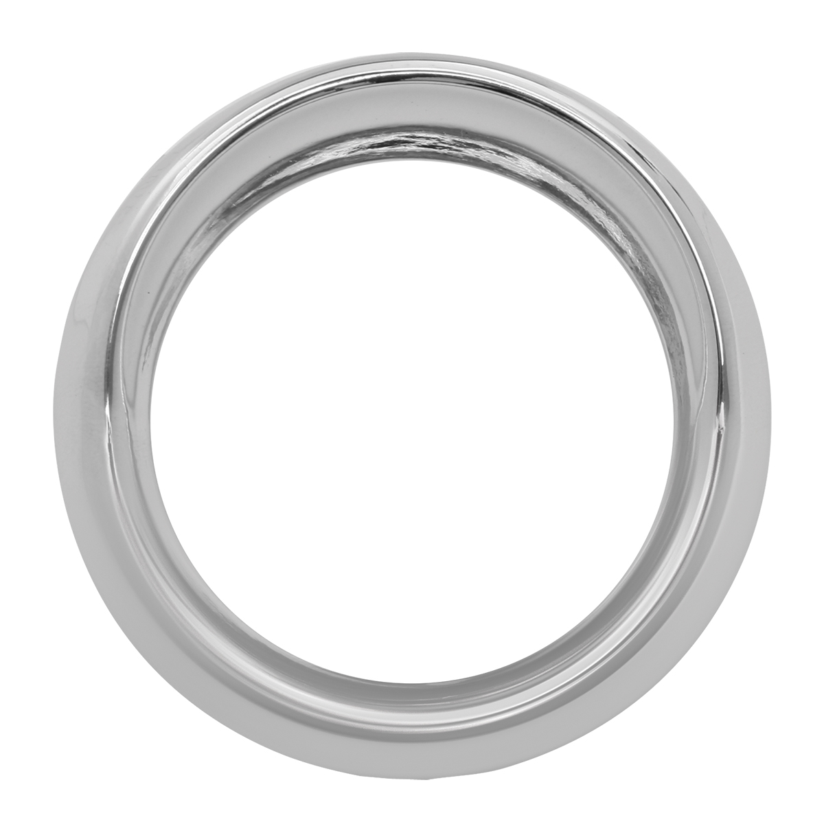 68165 Chrome Plastic Small Snap-On Gauge Cover for Pete