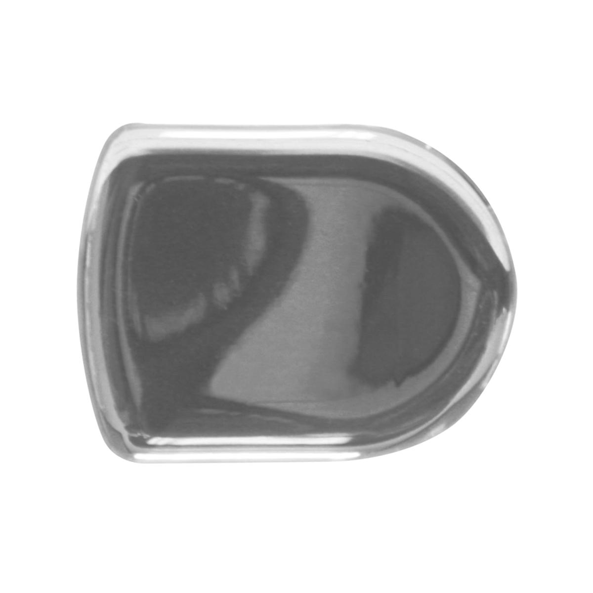 93126 Plain Silver D-Shape Glossy Sticker