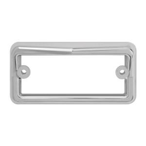96910 Chrome Plastic Rectangular Cab Visor Light Bezel for FL