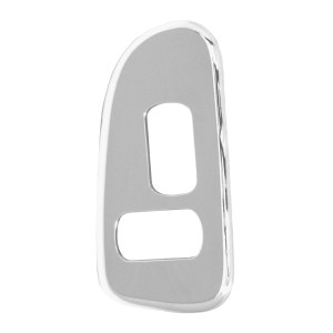 52008 Chrome Plastic Window Switch Trim w/ 2 Opening (Passenger Side) for Pete