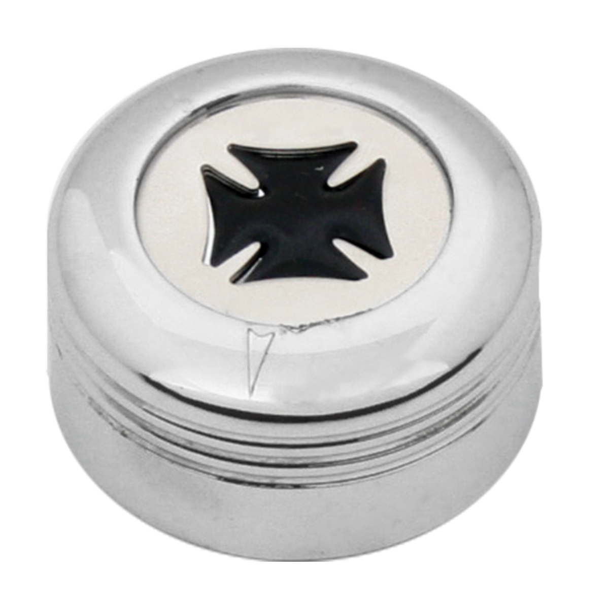 Chrome Plastic A/C Knob w/ Black Iron Cross for Pete