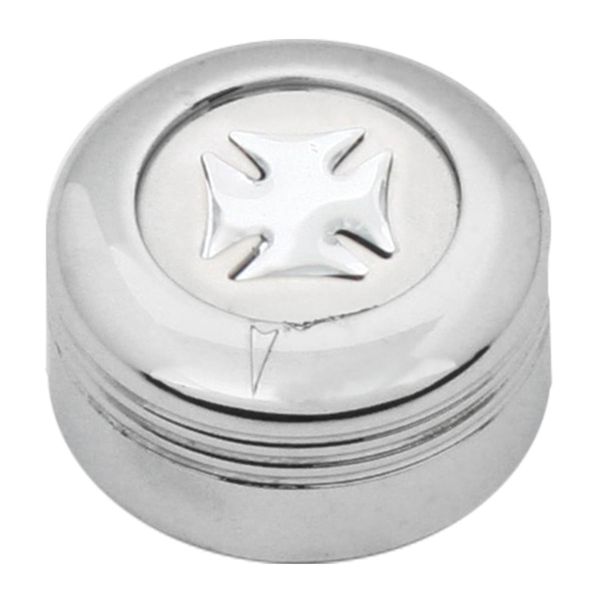 Chrome Plastic A/C Knob w/ Silver Iron Cross for Pete