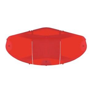 67775 Small Red Interior Dome Light Lens for FL Cascadia