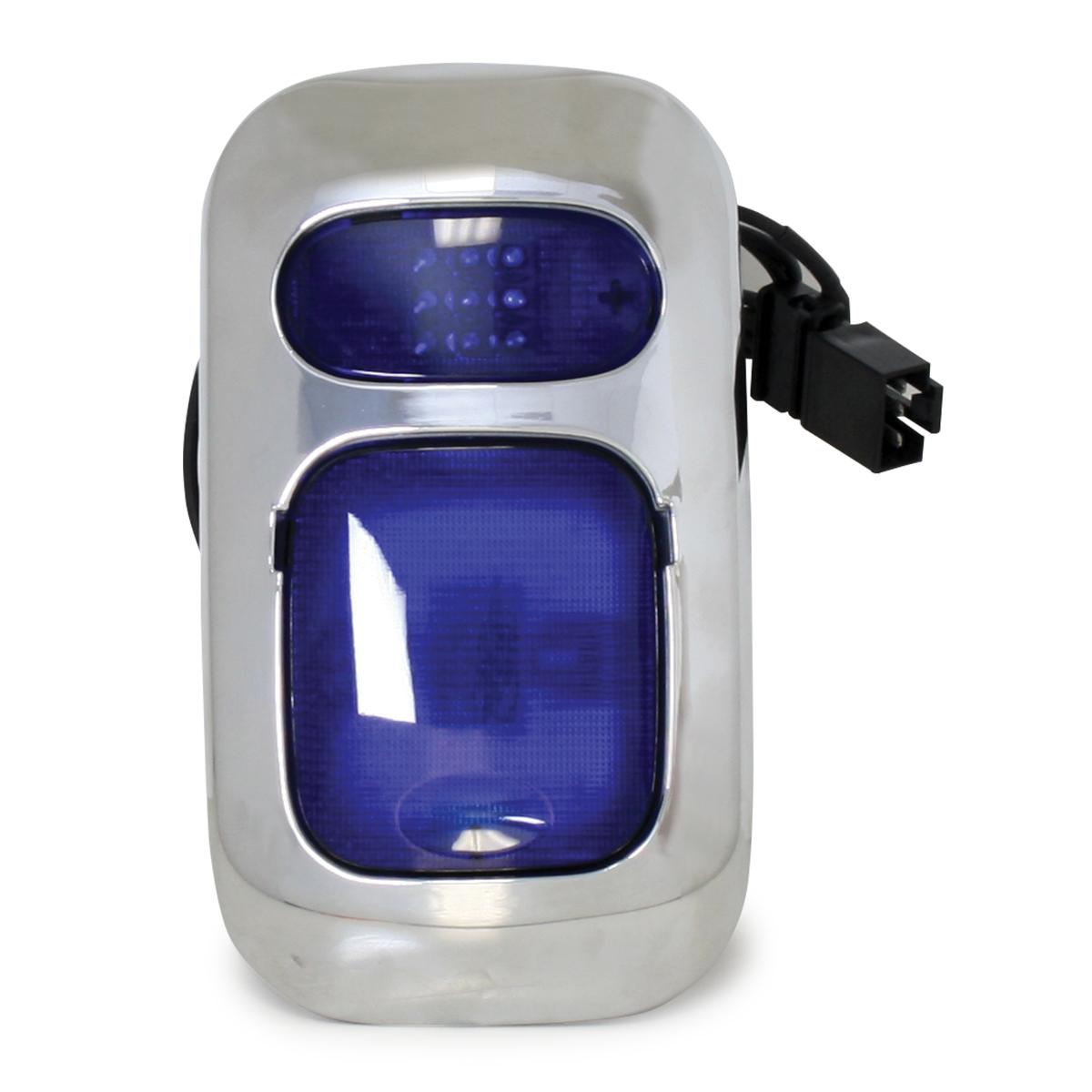 67829 Chrome Plastic Dome Light Cover (with 67821 & 67831 Blue Lens) for FL Columbia/Coronado