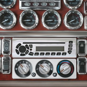 68348 Chrome Steel Radio unit Face Plate Cover for Pete