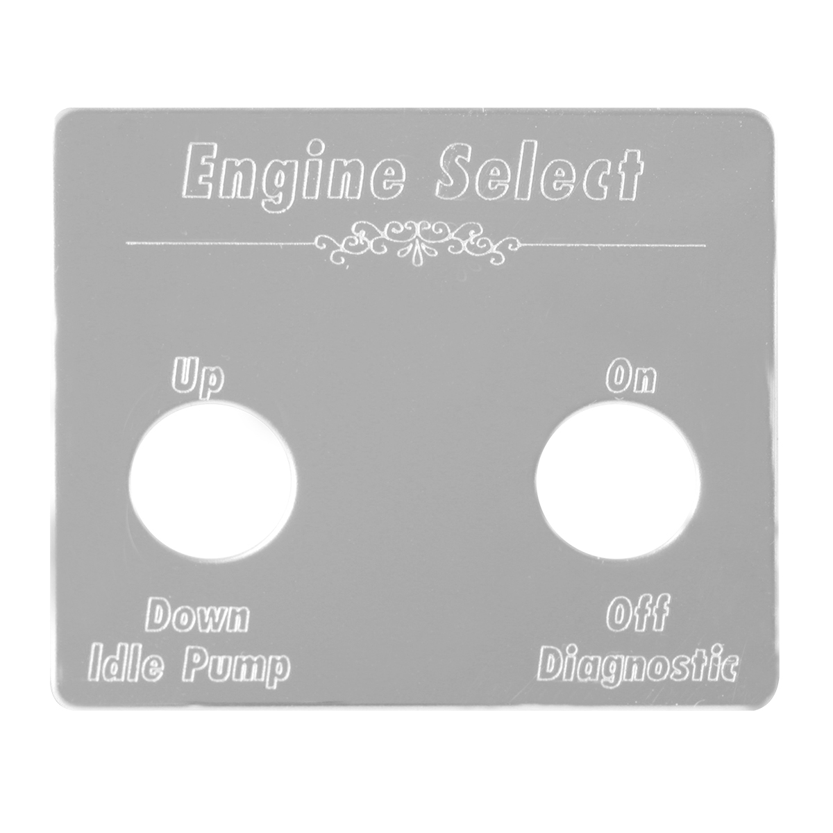 68455 Pete Stainless Steel Switch Plate