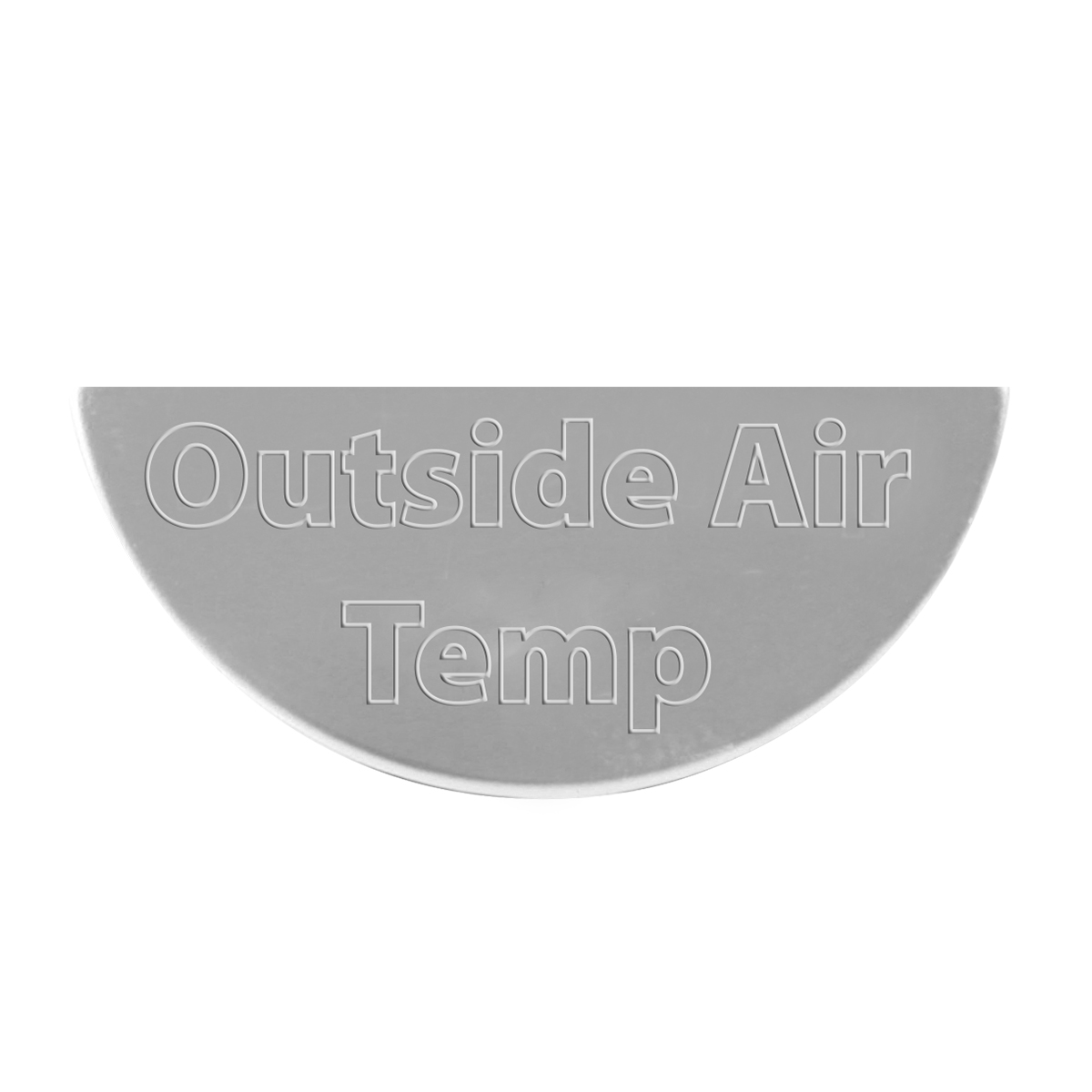 68512 Stainless Steel Outside Air Temperature Gauge Emblem for KW