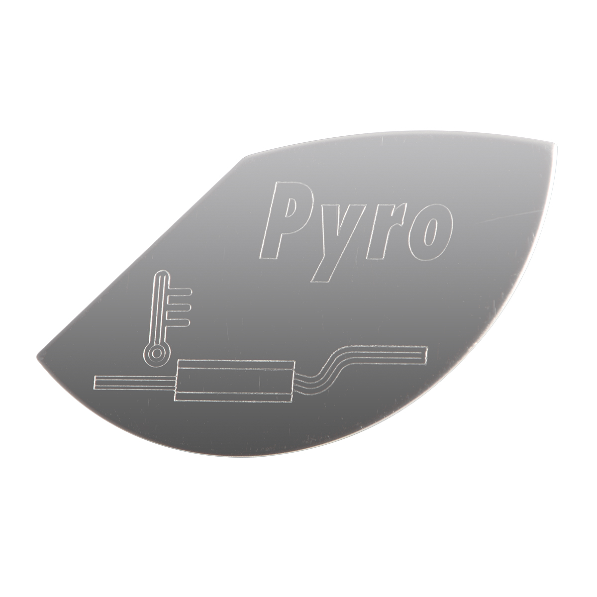 68513 Stainless Steel Large Pyrometer Gauge Emblem for KW