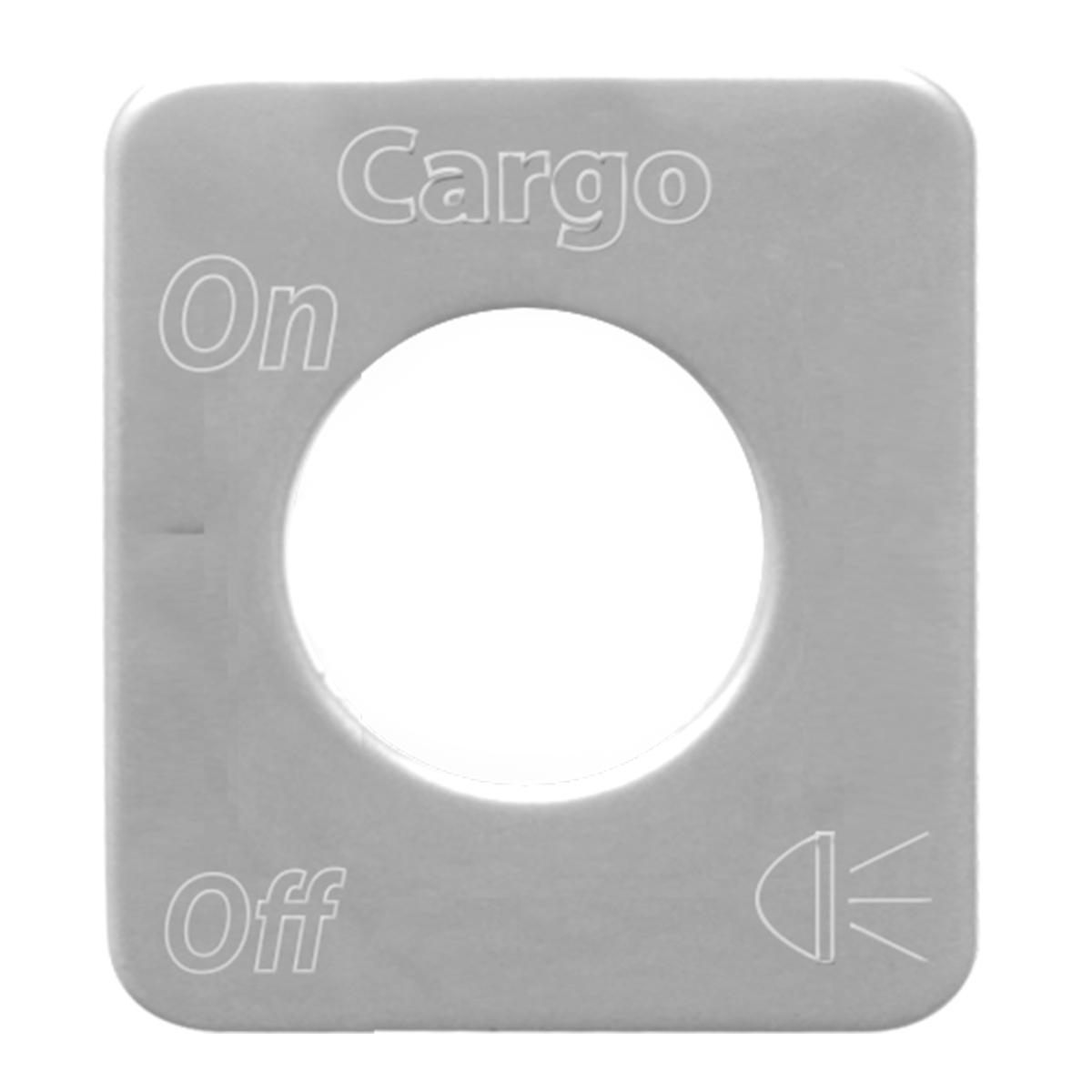 68529 Stainless Steel Cargo Light Switch Plate for KW