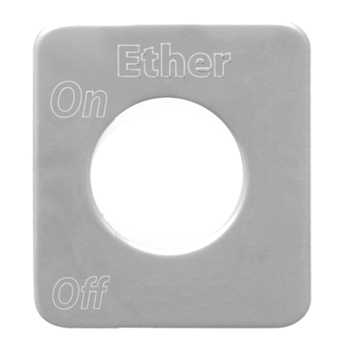 68536 Stainless Steel Ether Switch Plate for KW