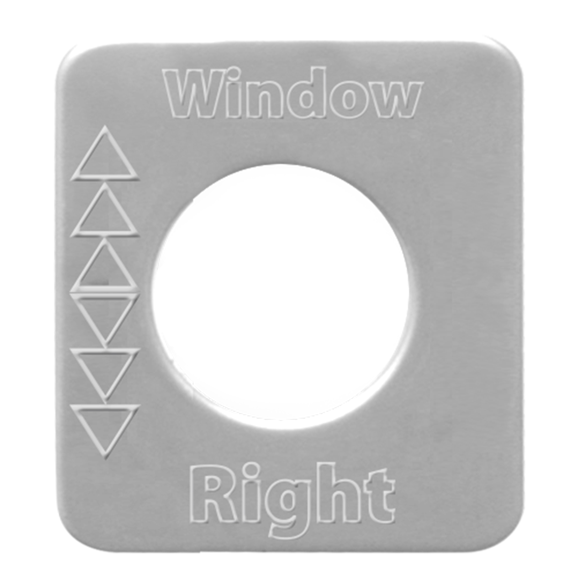68546 Stainless Steel Right Window Switch Plate for KW
