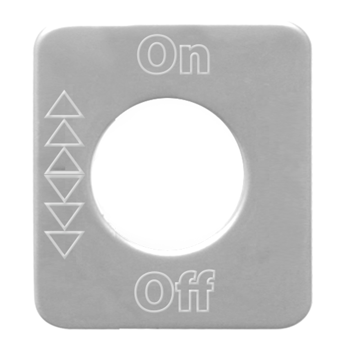 68586 Stainless Steel On/Off Switch Plate for KW