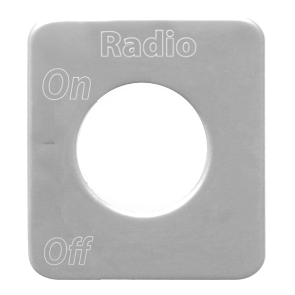 68590 Stainless Steel Radio Switch Plate for KW