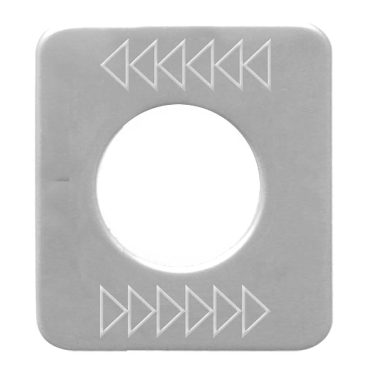 68598 Stainless Steel Left Top Arrow Switch Plate for KW