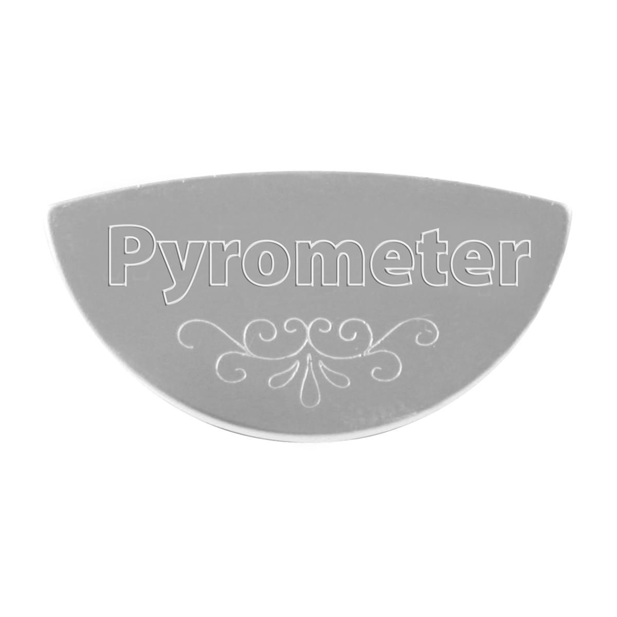 68645 Stainless Steel Pyrometer Gauge Emblem for KW