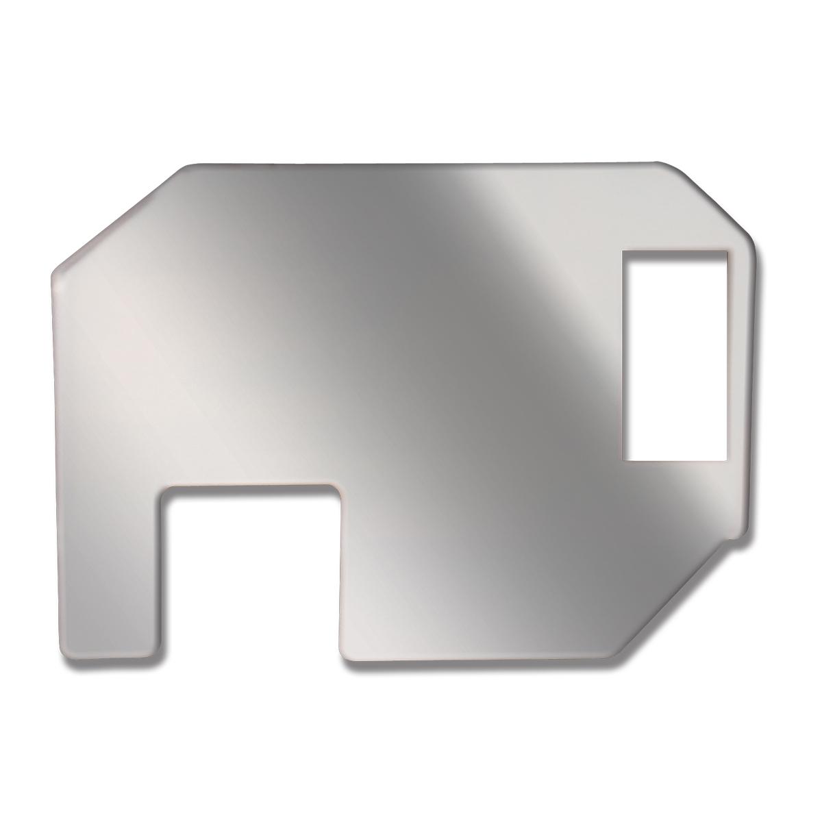 68907 Chrome Steel Right Side End Trim Dash Acc for FL Classic/FLD