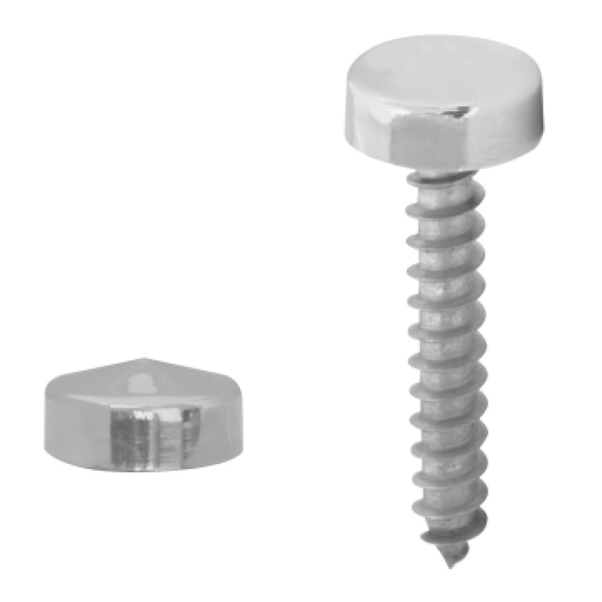 KW Chrome Plastic Screw Covers