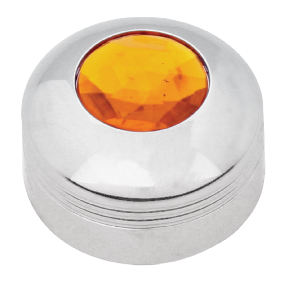 69050 Chrome Plastic A/C Know with Amber Plastic Jewel for KW