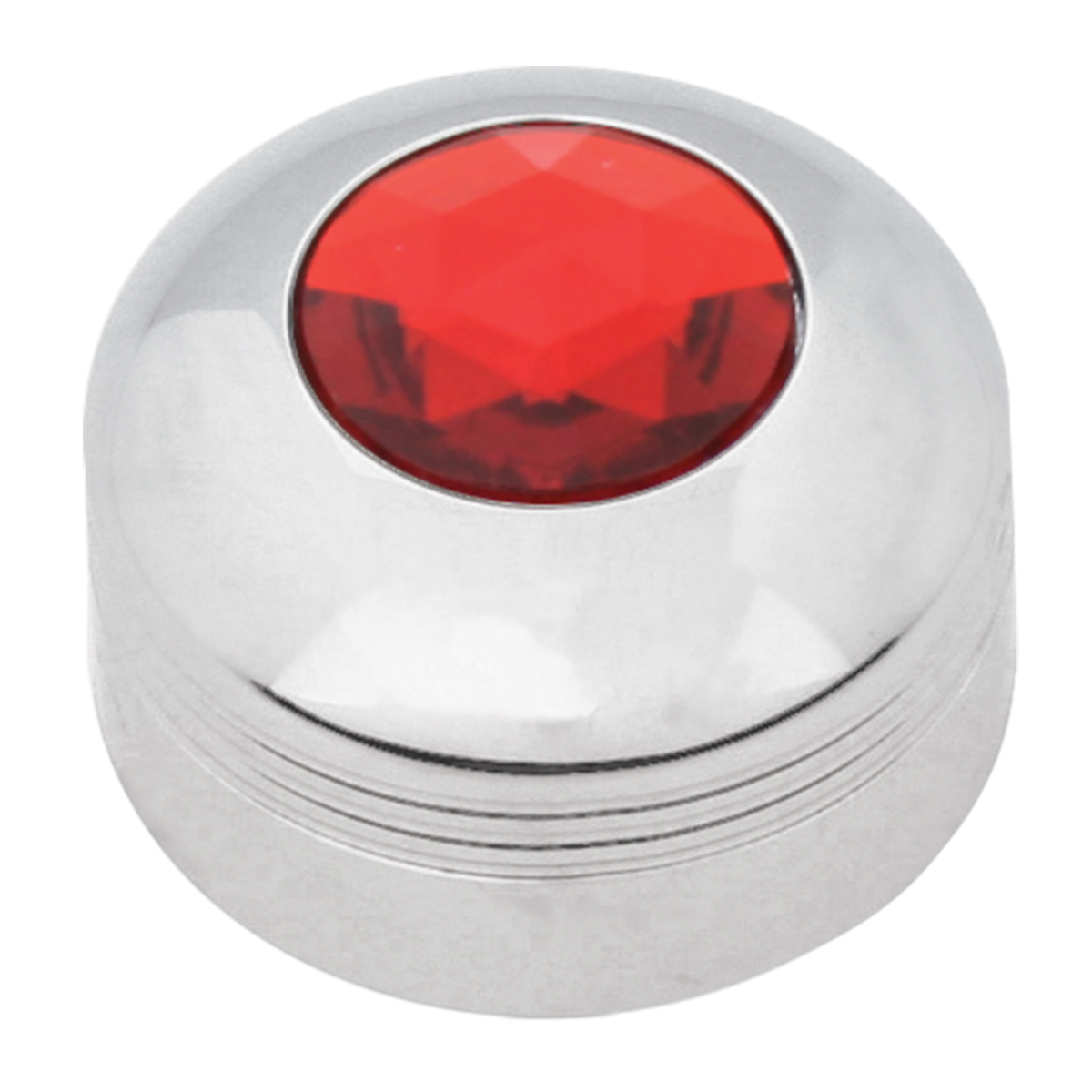 69055 Chrome Plastic A/C Know with Red Plastic Jewel for KW