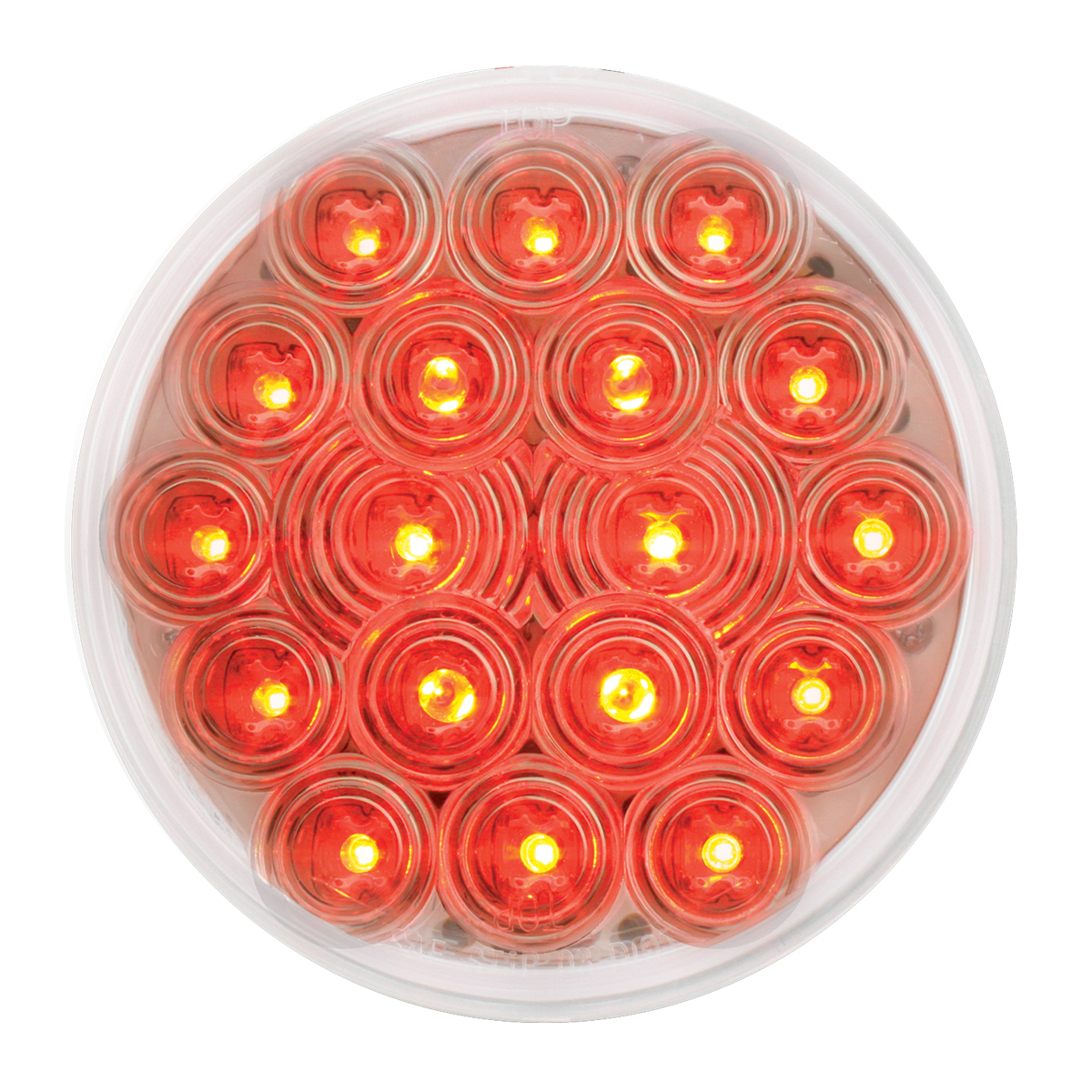 "76453 4"" Fleet LED Light in Red/Clear"