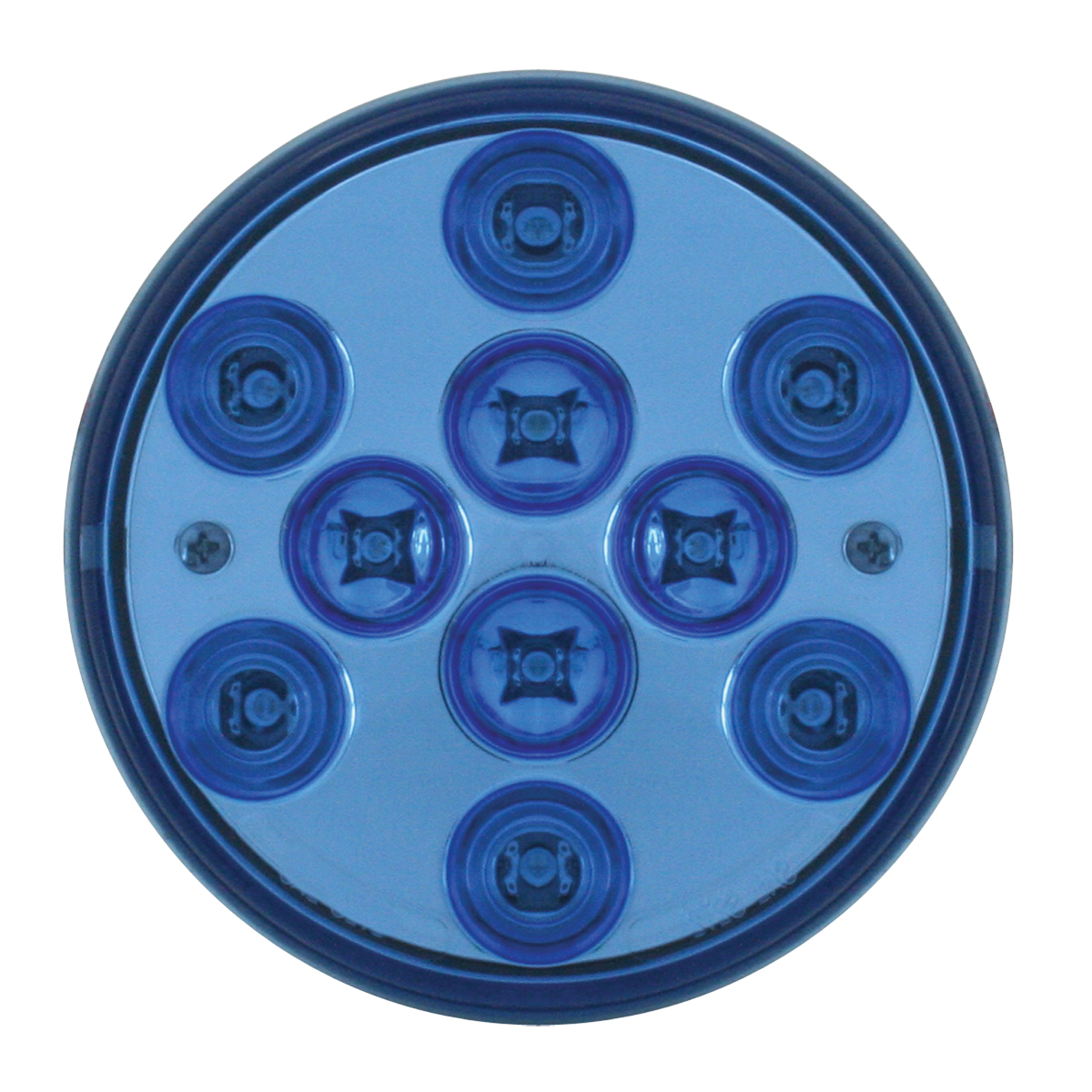 "76848 4"" Mega 10 Plus LED Light in Blue/Blue"