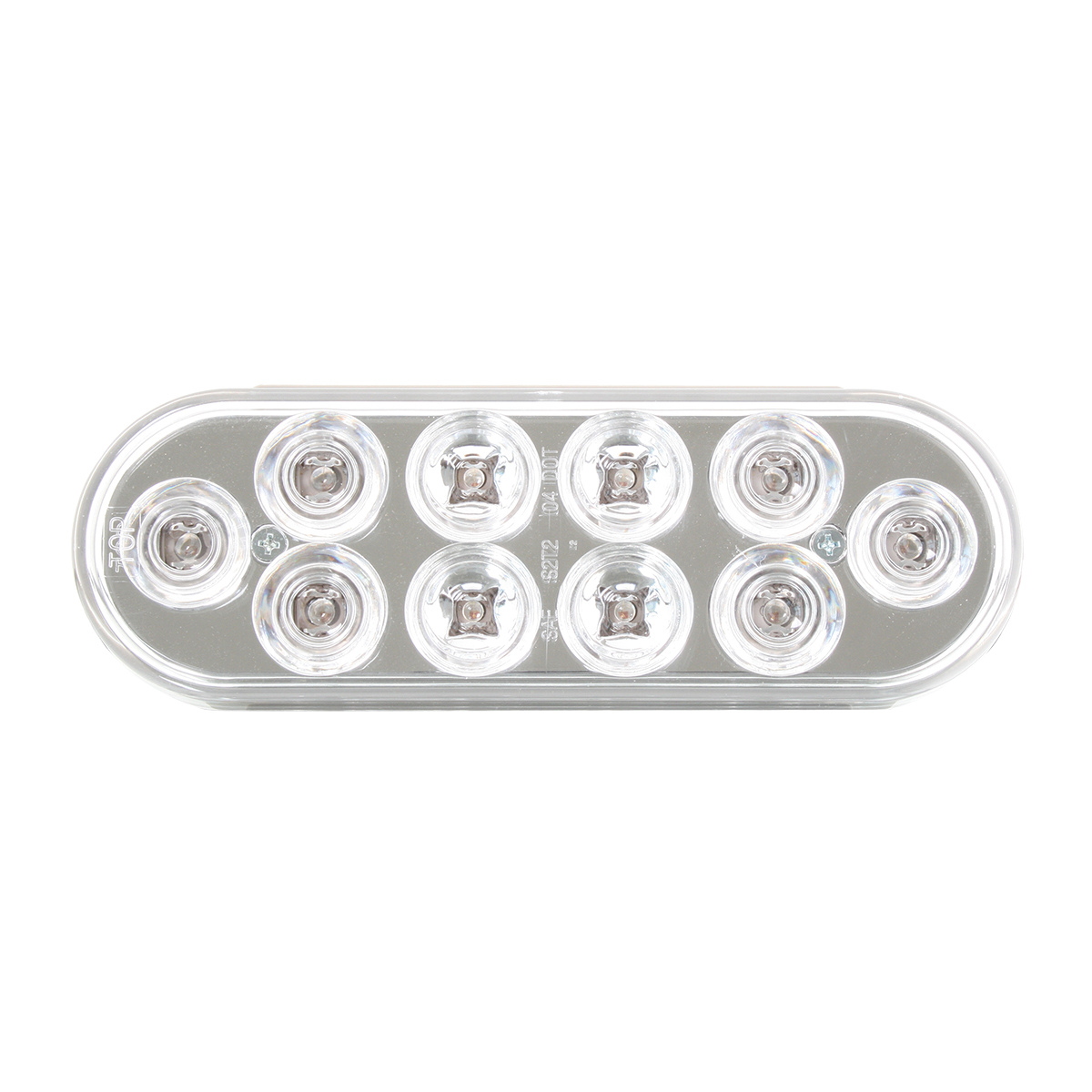 Oval Mega 10 Plus LED Light in Clear Lens