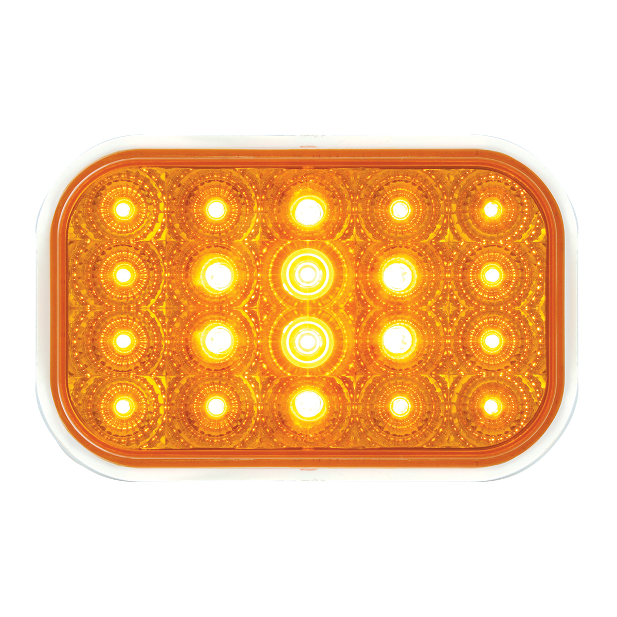 77010 Rectangular Spyder LED Light in Amber/Amber