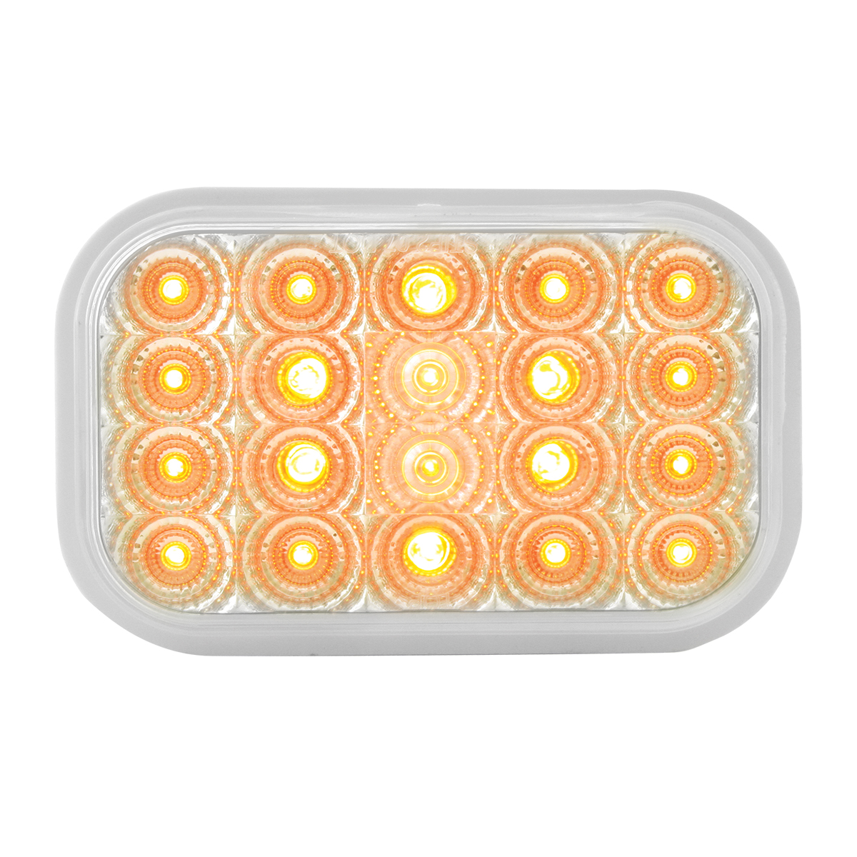 77011 Rectangular Spyder LED Light in Amber/Clear