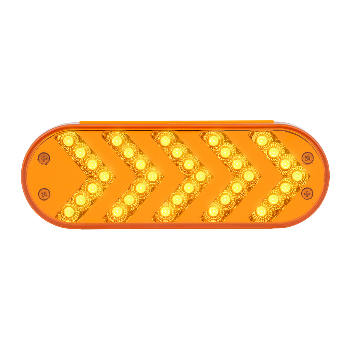 77124 Oval Sequential Arrow Spyder LED Light in Amber/Amber