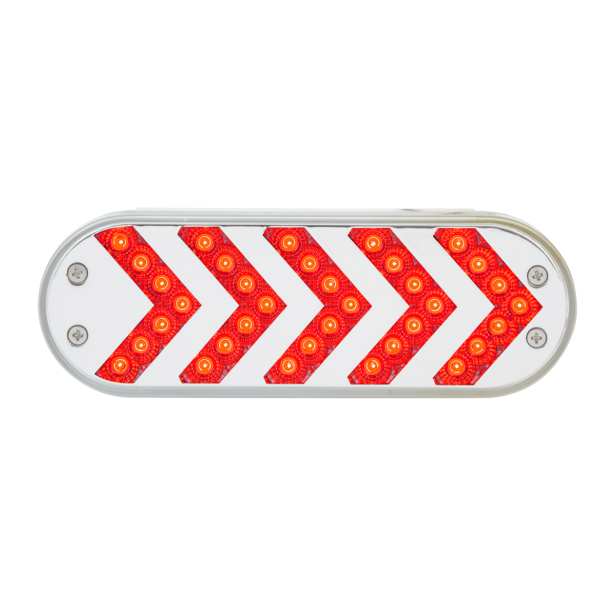 77127 Oval Sequential Arrow Spyder LED Light in Red/Clear