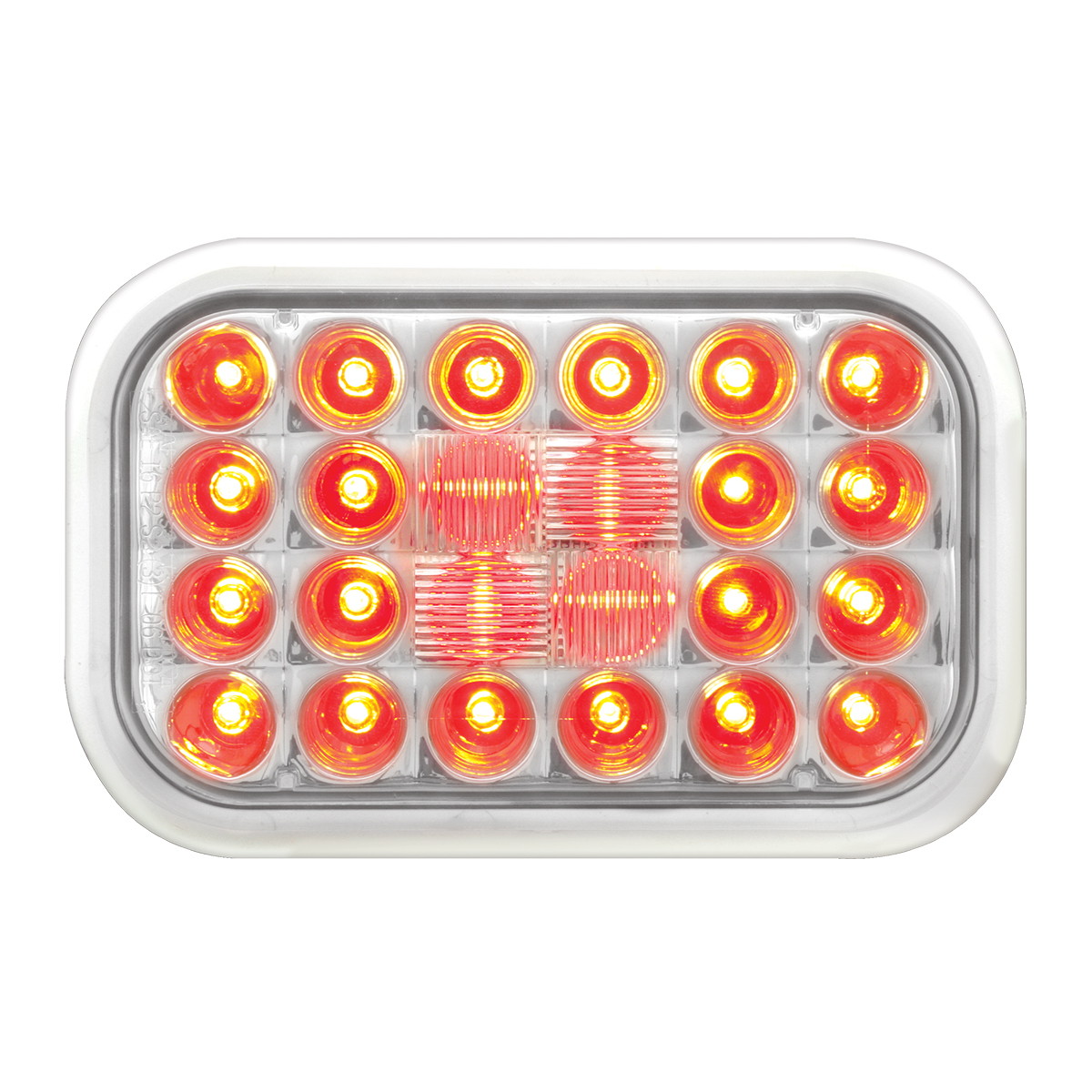 77183 Rectangular Pearl LED Light in Red/Clear