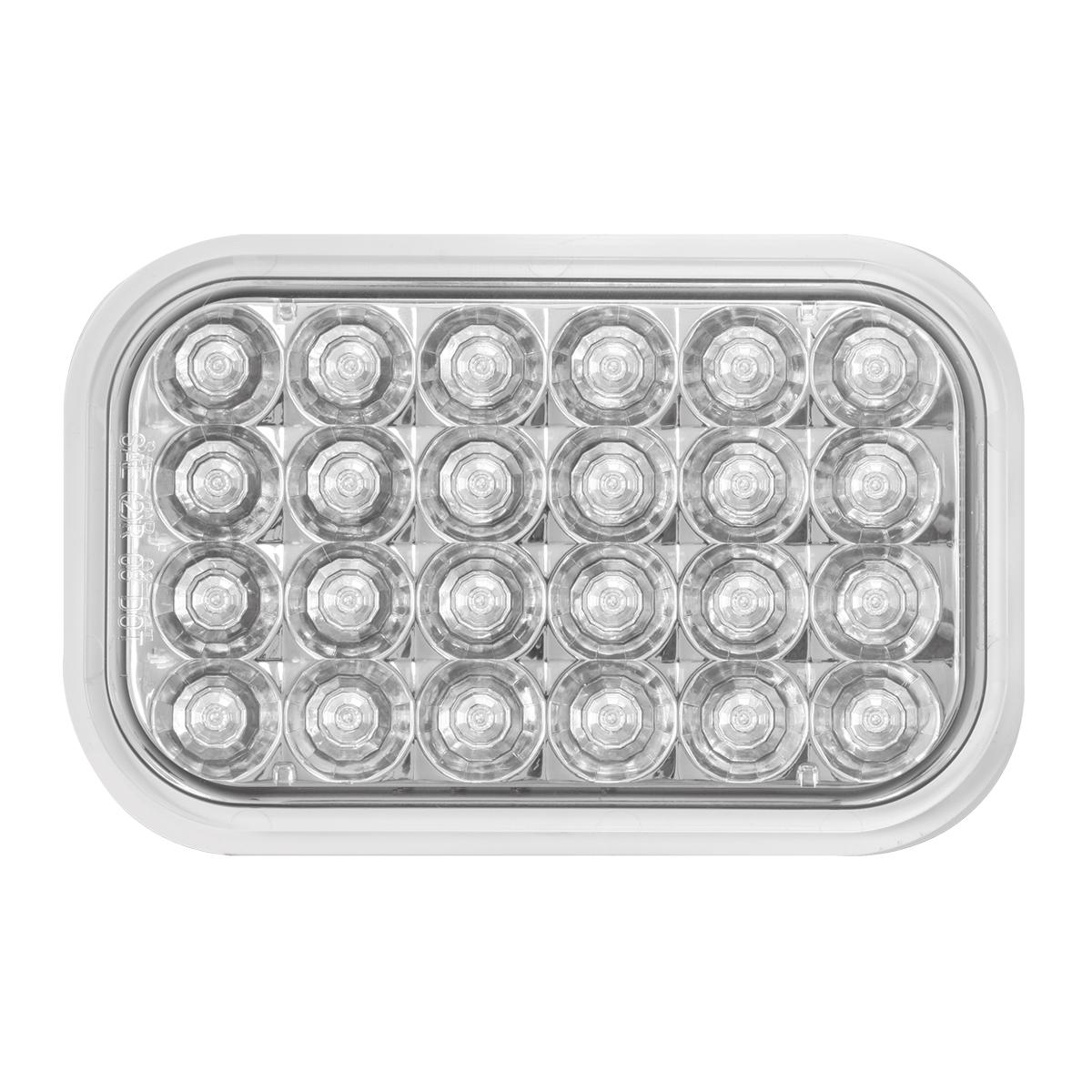 77184 Rectangular Pearl LED Light in White/Clear