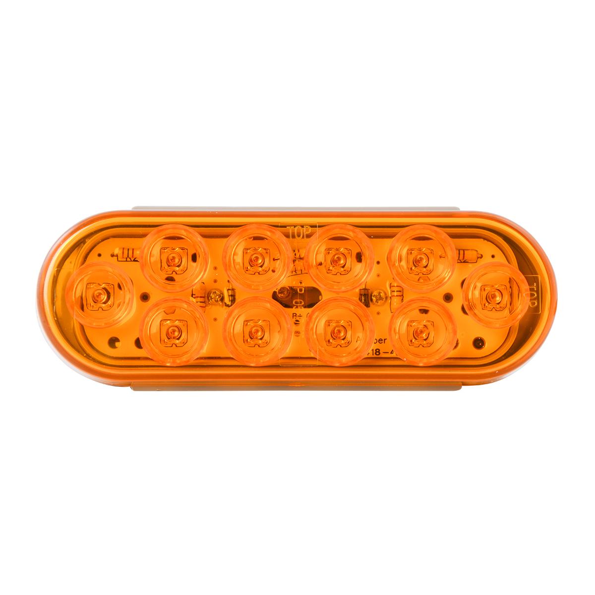 77440 Oval Mega 10 LED Light in Amber/Amber